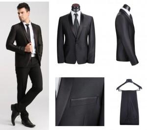 2015送料無料高品質の男性の結婚式の-スーツ新デザイン新郎タキシード-ウエディング服スーツ最高の男の-スーツ-ジャケット-パンツ-